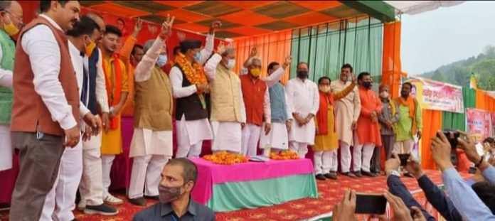 मुख्यमंत्री तीरथ सिंह रावत के नेतृत्व में बीजेपी ने जीती सल्ट विधानसभा