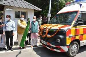 उत्तराखंड के मुख्यमंत्री ने किए 108 सेवा के 132 वाहन जनता को समर्पित