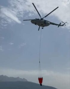 वनाग्नि को रोकने में एयर आपरेशन रहेगा जारी